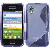 Silicone Case for Samsung Galaxy Ace S-Style purple