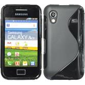 Silicone Case for Samsung Galaxy Ace S-Style black