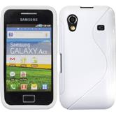 Silicone Case for Samsung Galaxy Ace S-Style white