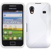 Silikon Hülle Galaxy Ace S-Style weiß