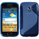 Silicone Case for Samsung Galaxy Ace 2 S-Style blue