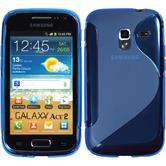 Silikonhülle für Samsung Galaxy Ace 2 S-Style blau
