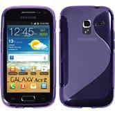 Silikonhülle für Samsung Galaxy Ace 2 S-Style lila