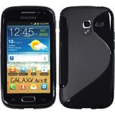 Silicone Case for Samsung Galaxy Ace 2 S-Style black
