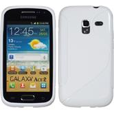 Silikonhülle für Samsung Galaxy Ace 2 S-Style weiß