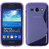 Silicone Case for Samsung Galaxy Ace 3 S-Style purple
