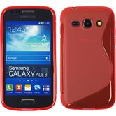 Silicone Case for Samsung Galaxy Ace 3 S-Style red
