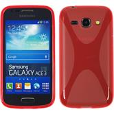 Silicone Case for Samsung Galaxy Ace 3 X-Style red