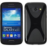 Silicone Case for Samsung Galaxy Ace 3 X-Style black