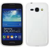 Silicone Case for Samsung Galaxy Ace 3 X-Style white