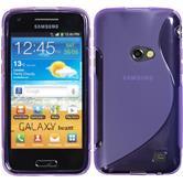 Coque en Silicone pour Samsung Galaxy Beam S-Style pourpre