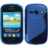Silicone Case for Samsung Galaxy Fame S-Style blue