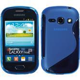 Silikon Hülle Galaxy Fame S-Style blau + 2 Schutzfolien