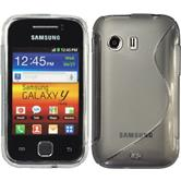 Silicone Case for Samsung Galaxy Y S-Style gray