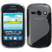 Silicone Case for Samsung Galaxy Fame S-Style gray