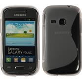 Silicone Case for Samsung Galaxy Young S-Style gray
