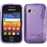 Silicone Case for Samsung Galaxy Y S-Style purple
