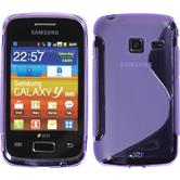 Silicone Case for Samsung Galaxy Y Duos S-Style purple