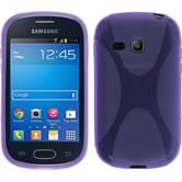 Silicone Case for Samsung Galaxy Fame Lite X-Style purple