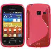 Silicone Case for Samsung Galaxy Y Duos S-Style hot pink