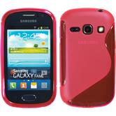 Silicone Case for Samsung Galaxy Fame S-Style hot pink