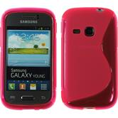 Silicone Case for Samsung Galaxy Young S-Style hot pink