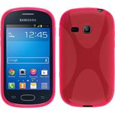 Silicone Case for Samsung Galaxy Fame Lite X-Style hot pink