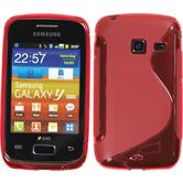 Silicone Case for Samsung Galaxy Y Duos S-Style red