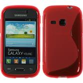 Silicone Case for Samsung Galaxy Young S-Style red