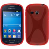 Coque en Silicone pour Samsung Galaxy Fame Lite X-Style rouge