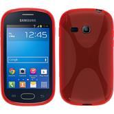Silikon Hülle Galaxy Fame Lite X-Style rot
