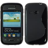 Silicone Case for Samsung Galaxy Young S-Style black