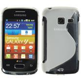 Silicone Case for Samsung Galaxy Y Duos S-Style transparent