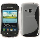 Silicone Case for Samsung Galaxy Young S-Style transparent