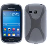 Silikon Hülle Galaxy Fame Lite X-Style clear + 2 Schutzfolien