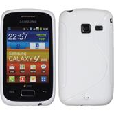 Silicone Case for Samsung Galaxy Y Duos S-Style white
