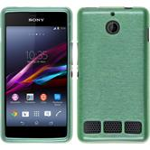 Silicone Case for Sony Xperia E1 brushed green
