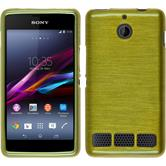 Silicone Case for Sony Xperia E1 brushed pastel green