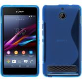 Silicone Case for Sony Xperia E1 S-Style blue