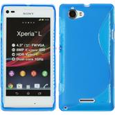 Silicone Case for Sony Xperia L S-Style blue