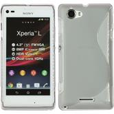 Silicone Case for Sony Xperia L S-Style gray