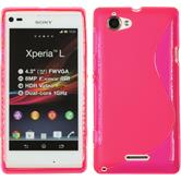 Silicone Case for Sony Xperia L S-Style hot pink