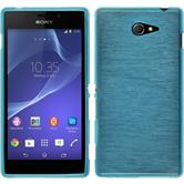 Silicone Case for Sony Xperia M2 brushed blue