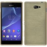 Silicone Case for Sony Xperia M2 brushed gold