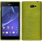 Silicone Case for Sony Xperia M2 brushed pastel green