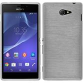 Silicone Case for Sony Xperia M2 brushed white