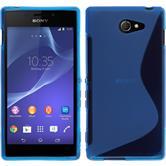 Silikon Hülle Xperia M2 S-Style blau