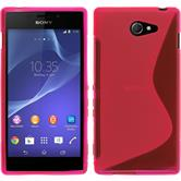 Silikon Hülle Xperia M2 S-Style pink