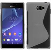 Silicone Case for Sony Xperia M2 S-Style transparent