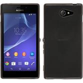 Silicone Case for Sony Xperia M2 transparent black